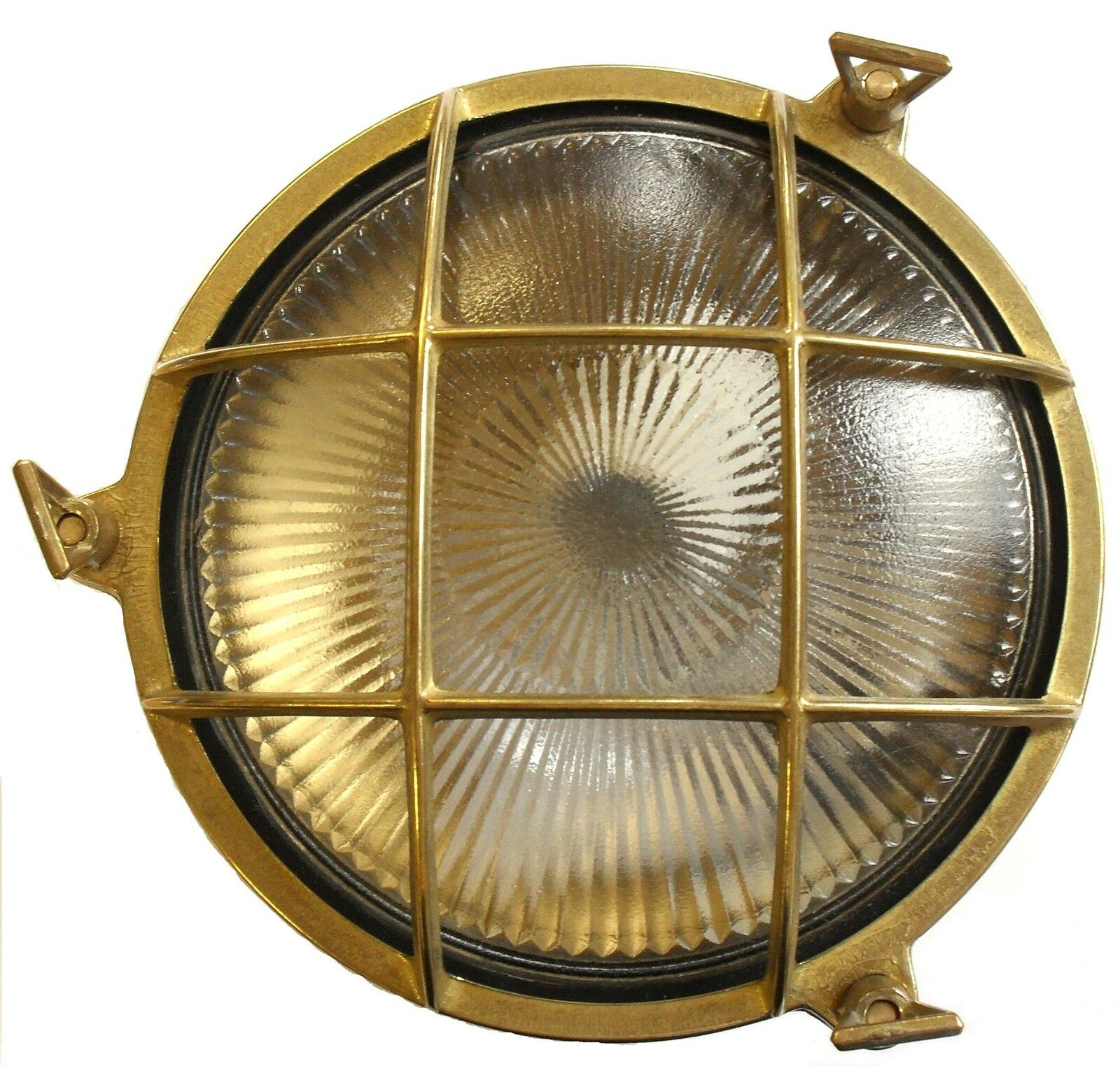 Mamparo de iluminación exterior sólido bronce ojo de buey (pequeño) Con Lámpara LED 6 W