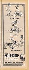 PUBLICITE ADVERTISING 015 1958 SOLEXINE carburant par Barberousse