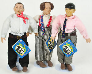 The-Three-Stooges-Dolls-1991-Norman-Maurer-Hamilton-Gifts-Figures-LOT-SET-w-Tags
