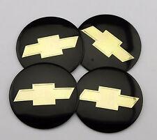 "56mm 2.2"" black Emblem Badge Decal Sticker Auto Wheel Center Hub Cap Chevrolet"