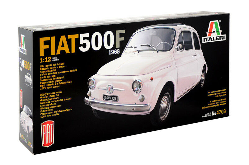 diseños exclusivos FIAT 500F 500F 500F 1968 KIT ITALERI 1 12 IT4703  precioso
