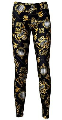 LL0021 Ladies Harlequin Design Checked High Quality Leggings