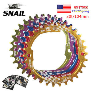 SNAIL-30T-MTB-Bike-BCD104mm-Chainring-Bicycle-Narrow-Wide-Round-Chainwheel-Disc