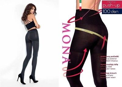 100 Den Tights Slimming Waist Pressing Of Belly s - Xl Mona Micro Push-up 50 Aromatic Flavor