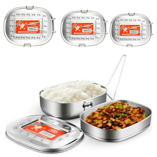 Stainless Steel Food Containers Lunch Box Leak Storage Bento Box