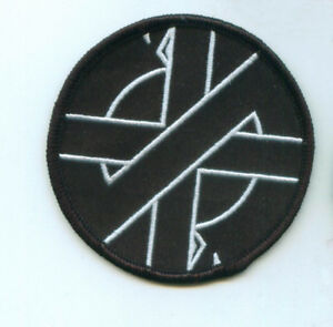 Crass-Embroidered-Patch-Anarcho-Punk-Rock-Steve-Ignorant-Anti-War-Peace-Punks