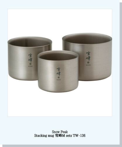 "Snow Peak Titanium Stacking mug /""seppo/""M sets seppo M400 seppo M300 seppo M200"