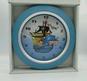 Image Is Loading Children 039 S Wall Clock Boys Room Cartoon