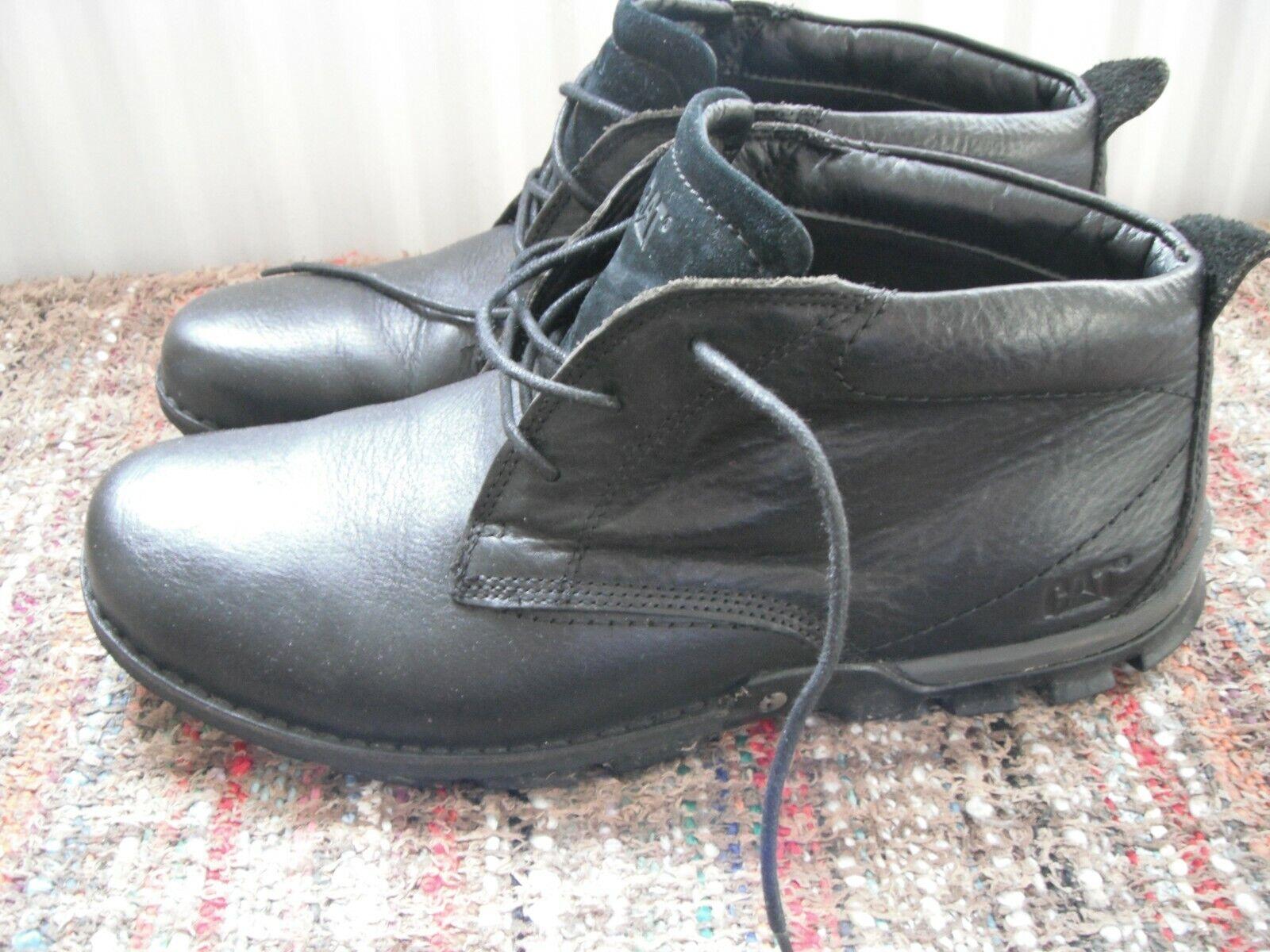 Caterpillar Blaxland Mid black leather boots UK11 EU45