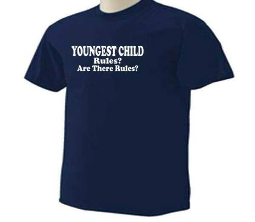 Family Funny Humor T-Shirt Are There Rules KIDS Youngest Child Rules