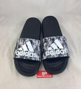 1611ea0f5 New adidas Voloomix Men s CAMO Sandals Black Gray Sport Beach Slides ...