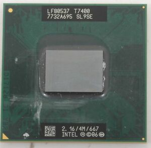 Intel Core 2 Duo SL9SE T7400 CPU 2.16GHz//4M//667 Processor CPU For Laptop Tested