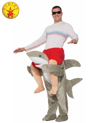 RD Unisex Adult Costume Fancy Dress SHARK PIGGY BACK 78154