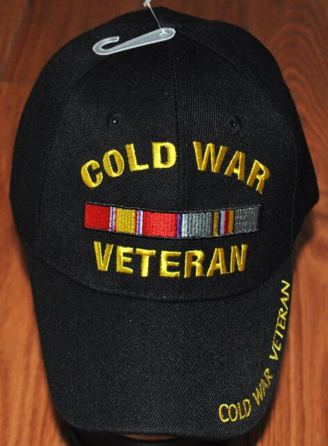 e7d98ea51598c New Black US Military Cold War Veteran Hat Baseball Ball Cap Army Navy  Marines
