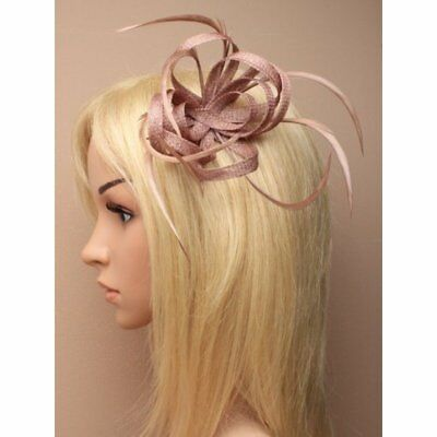 Looped Feather Beak Clip Fascinator Ladies Head Piece Races Wedding Royal Ascot