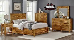 Solid Acacia Wood Bed King Or Queen