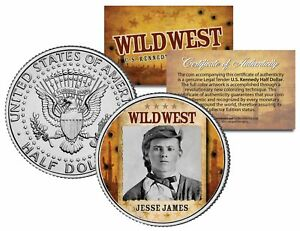 JESSE-JAMES-Wild-West-Series-JFK-Kennedy-Half-Dollar-U-S-Coin