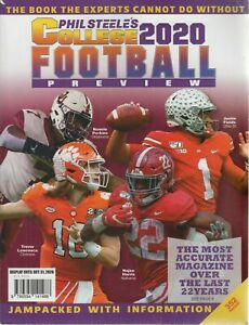 PHIL STEELE'S COLLEGE FOOTBALL 2020 PREVIEWS. VOLUME 26 / 352 PAGES.