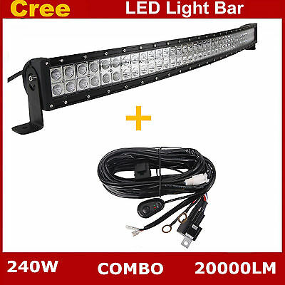 """4D 22inch 120W LED Curved Light Bar Combo Beam for Jeep Truck OffRoad PK 22//23/"""""""