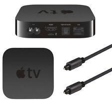 1M Optical Toslink SPDIF Cable Digital Fibre Audio 1 Metre Lead for Apple TV