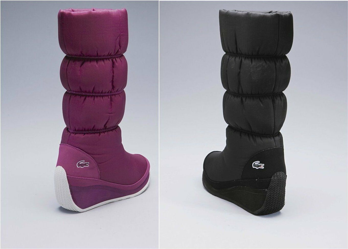 New pink Damenss LACOSTE PERRON WEDGE SKI Stiefel in pink New or schwarz ALL SIZES ea2491