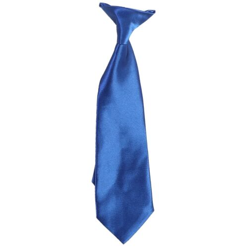 Kids Boys 8-16 Satin Tie 4-7 Colors Clip On Neck Tie For Toddler 25 2T-4T