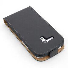 Handy tasche für Samsung Galaxy S3 SIII mini i8190 schwarz Schutzhülle flip case