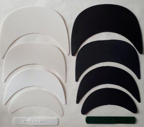 Baseball Cap making Hat Brim Visor Insert or Snapback Strap Adjuster White Black