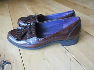 HOTTER-039-Shipley-039-Ladies-Brown-Leather-Shoes-Loafers-Tassel-Slip-On-3-UK-36-EU