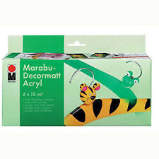 Marabu 6 x 15 ml Decormatt Starter Set - Matt Acrylic Painting Set