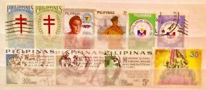 Filippine-francobolli-alcuni-vecchi-scarse-tratta-da-album-strisce-LOTTO-09190119