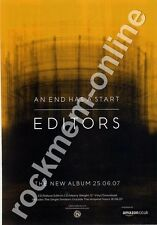 Editors An End Has A Start LP Advert