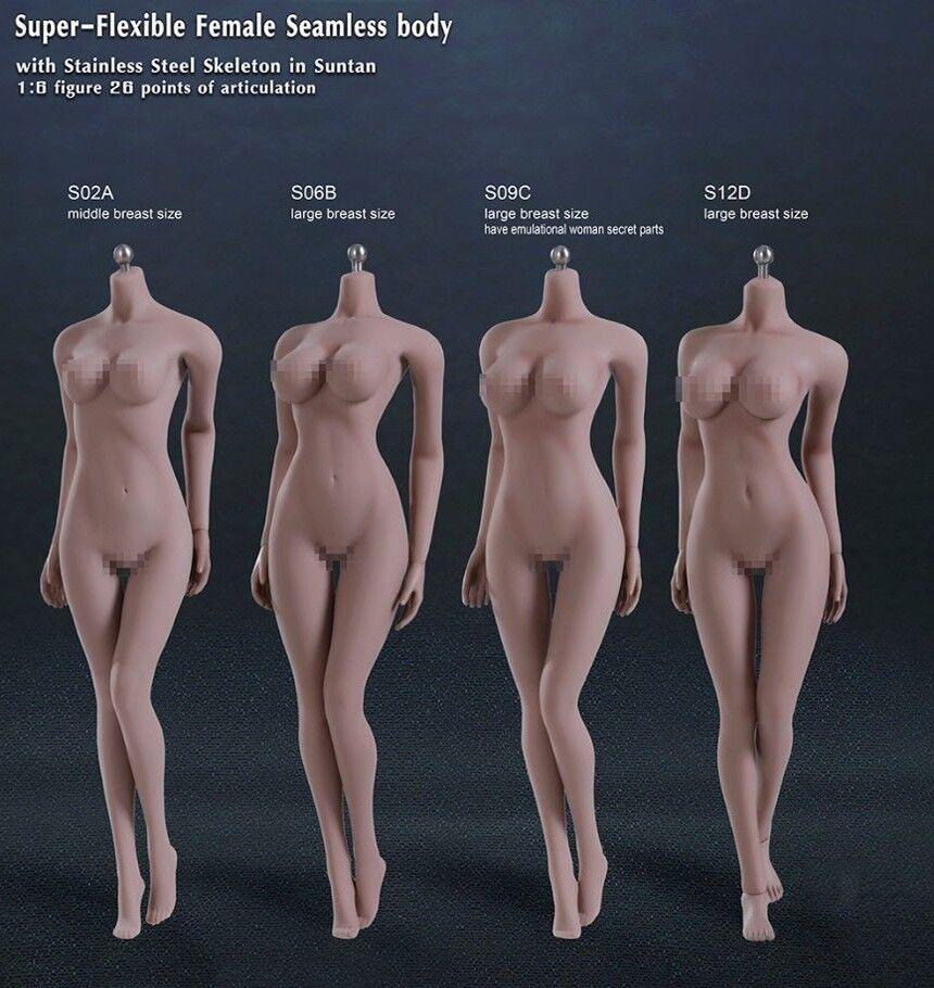 1/6 Super-Flexible Steel Skeleton Seamless Female Large Bust Suntan Body Hot Toy