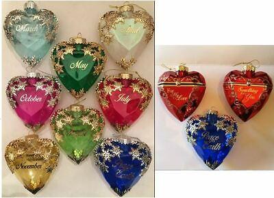 Birthstone Valentine Christmas Heart Ornament Box April May July Aug Nov New Ebay