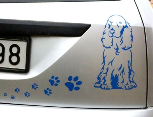 Cocker Spaniel Dog Car Sticker Vinyl Decal Adhesive Window Wall Door Laptop Blck