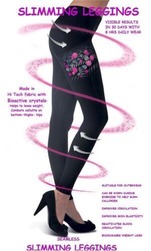 Donna Leggings Dimagranti Control supportano l/'usura in Nero aiuta a ridurre la cellulite