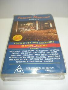 THE-FREDDIE-MERCURY-TRIBUTE-CONCERT-FOR-AIDS-VHS-VIDEO-TAPE-PAL-FREE-POSTAGE