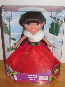 New christmas holiday sparkle dora the explorer kohls 12 034 doll toys