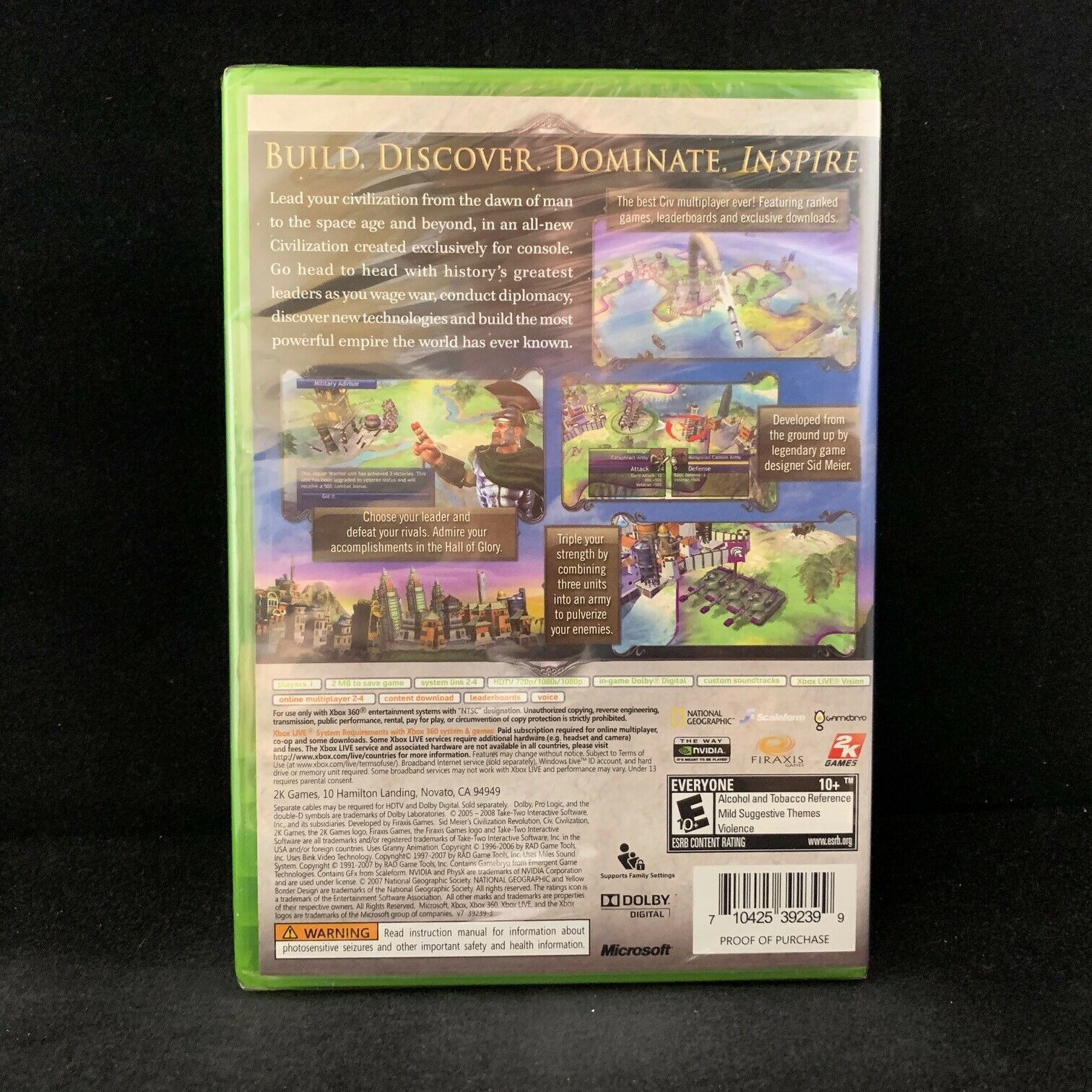 Sid Meier's Civilization Revolution (Microsoft Xbox 360, 2008) - European  Version