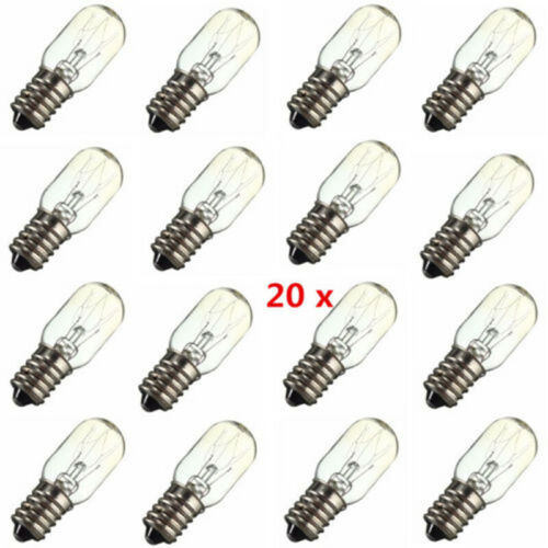 Use 20x E14 Salt Lamp Globe Light Refrigerator Bulb Replacement AC220-230V R1