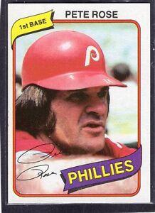 Details About 1980 Pete Rose Topps Burger King Baseball Card 4 Philadephia Phillies