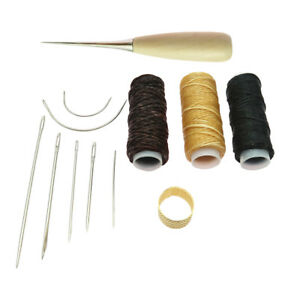 detailing 43c4c 5c8be Details about 12Pcs Canvas Tent Sewing Awl Hand Stitcher Leathercraft  Needles Kit Tools
