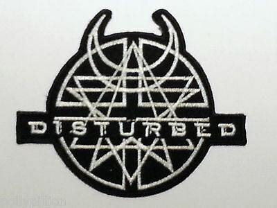 ROCK PUNK METAL MUSIC SEW / IRON ON PATCH:- DISTURBED (a) AMULET
