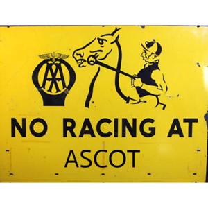 AA Road sign ASCOT Horse racing metal wall sign plaque GARAGE DECOR