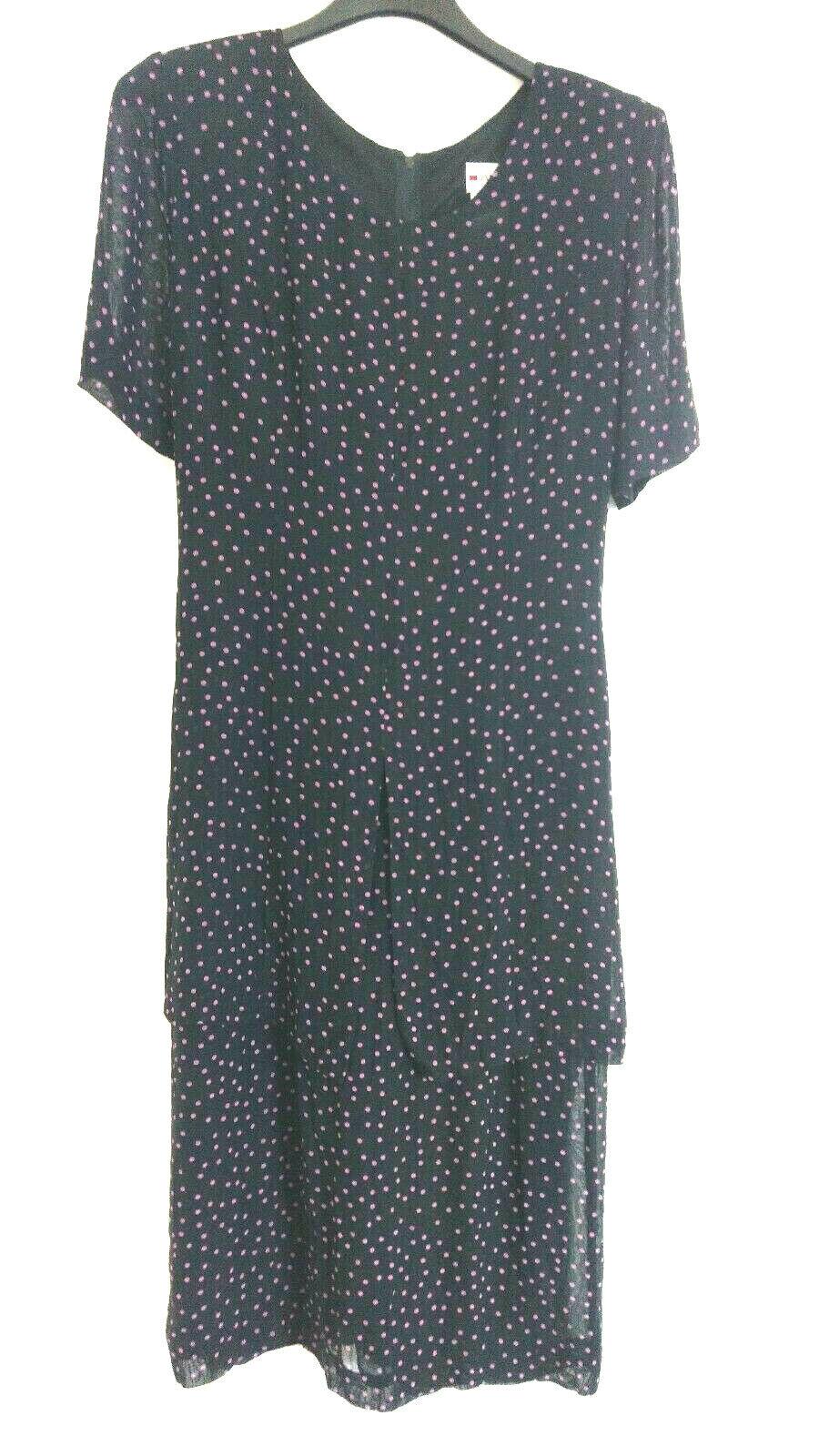 Fabiani Viskose Kleid Sommerkleid, festlich fliessend doppellagig Gr. 38, neu