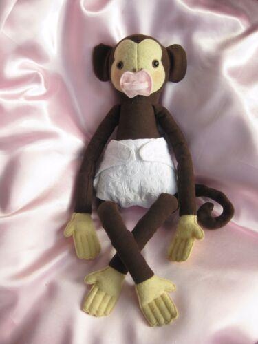 Mono Bebé Juguete Suave con patrón de costura propia colección de ropa