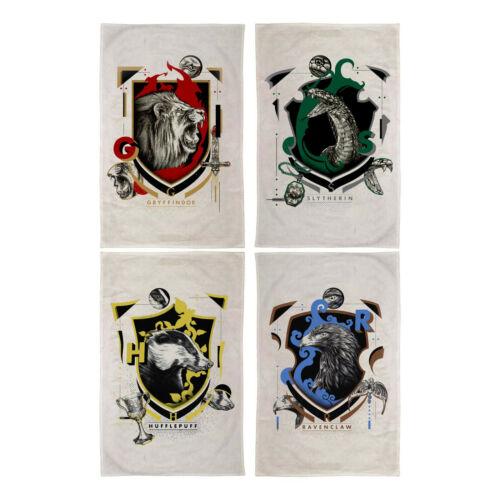 HARRY POTTER Slytherin Ravenclaw Tea Towel Set 4 Gryffindor Hufflepuff