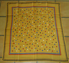 Très beau foulard vintage Christian Dior crèpe de soie silk scarf TBE
