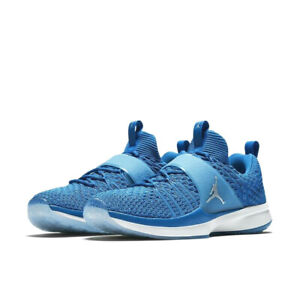 low priced f0149 c1e57 Image is loading Nike-Air-Jordan-Trainer-2-Flyknit-MILITARY-BLUE-