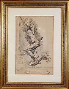 I1-034-NAKED-MAN-CHARCOAL-DRAWING-FRANCESC-GIMENO-XIX-CENTURY